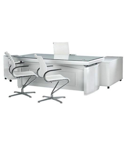 שולחן מנהלים 220 + זכוכית-383