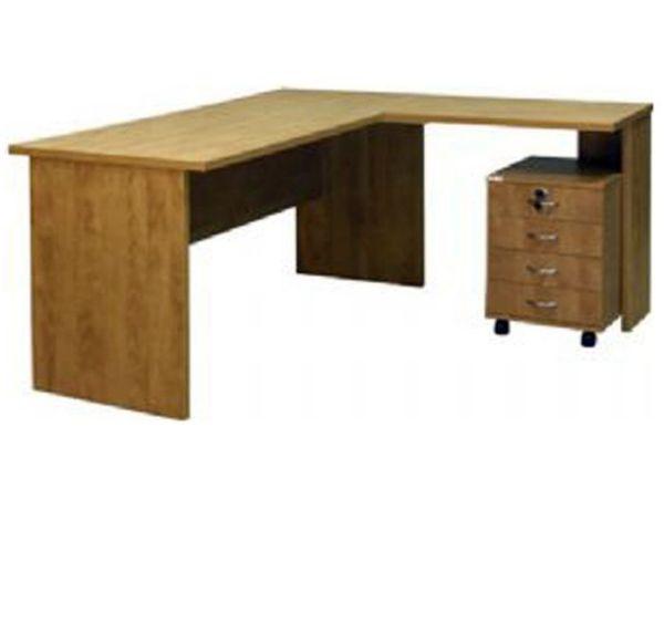 שולחן מזכירה+ שלוחה + מגירות-172