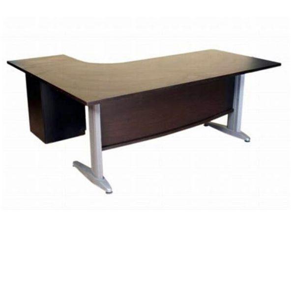 שולחן מזכירה ארגונומי רגל מתכת-163